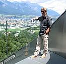 Franz Sales Sklenitzka auf der Berg-Isel-Sprungschanze in Innsbruck - (c) by Franz Sales Sklenitzka