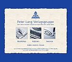 Screenshot der Verlagshomepage - (c) Peter Lang Verlagsgruppe