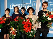 Die Preisträger 2012: C. Travnicek, I.-M. Mahlke, L. Kränzler, O. Martynova, M. Nawrat (v. li.) - (c) ORF