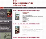 Webseite Die andere Bibliothek - (c) Eichborn Verlag