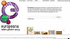 Startseite der Europeana in der deutschen Sprachversion - (c) europeana.eu