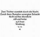 Die Trichter, Figurengedicht von Christian Morgenstern - (c) gemeinfrei