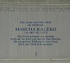 Berliner Gedenktafel für Mascha Kaléko - (c) by Doris Antony