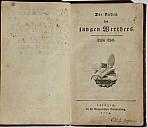 Erstdruck des Werther-Romans von 1774 - (c) Wikipedia.org