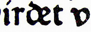Ligatur aus d und e - (c) by soso-media a&a