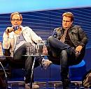 Michael Kobr und Volker Klüpfel bei einem Interview auf der Frankfurter Buchmesse 2009 - (c) Bonho1962/Wikipedia.org