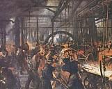 Adolph von Menzel: Eisenwalzwerk - (c) by The Yorck Project