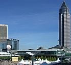 Die Messe heute: Turm und Forum - (c) by Frankfurter Buchmesse