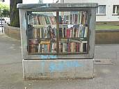 Die Offene Bibliothek in Mainz Ecke Feldbergplatz/Taunusstraße - (c) by Bücher-Wiki