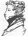 Alexander Puschkin, Selbstporträt von 1821 - (c) Wikipedia.org