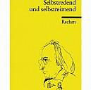 Rühmkorf-Porträt von Horst Janssen auf einem Reclam-Cover - (c) Reclam