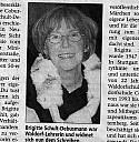 Brigitte Schult-Debusmann in einem Zeitungsbericht - (c) Neue Presse