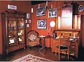 Das Arbeitszimmer im Haus Wasserreihe 31 in Husum, wo Storm von 1866 bis 1880 lebte - (c) Storm-Haus Husum