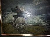 Gemälde des Schimmelreiters im Husumer Storm-Haus - (c) Storm-Haus, Husum/Foto: Gerald Drews