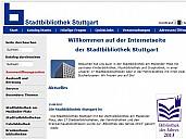 Die Webseite der Stadtbibliothek Stuttgart - (c) Stadtbibliothek Stuttgart.org
