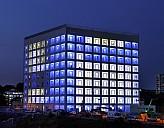 Die Stadtbibliothek Stuttgart kann nachts blau beleuchtet werden - (c) Stadt Stuttgart, Foto: Kraufmann/Hörner