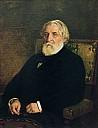 Iwan Turgenev, 1874 portätiert von Ilja Repin - (c) Wikipedia
