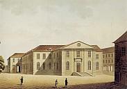 Die Göttinger Universitätsbibliothek um 1800 - (c) Aquarell v. J. Chr. Eberlein